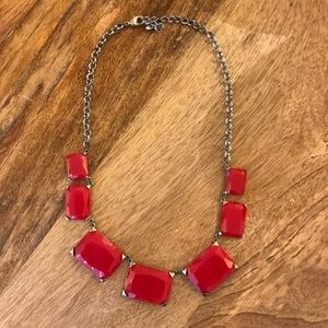 Jewelry - Chunky Red Statement Necklace